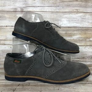Bass Enfield 10M Gray Suede Oxford Shoe
